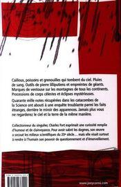 Le livre des damnés - 4ème de couverture - Format classique