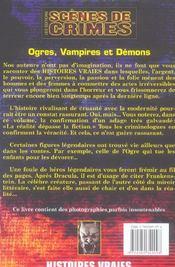Ogres, Vampires Et Demons N9 - 4ème de couverture - Format classique