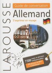 Guide de conversation allemand ; s'exprimer en voyage - Couverture - Format classique