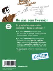 GUIDES DE CONVERSATION ; arabe algérien de poche - 4ème de couverture - Format classique