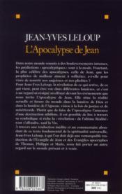 L'apocalypse de Jean - 4ème de couverture - Format classique