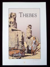 Sérigraphie Thèbes, numérotée 46/100 ex. Signée - Couverture - Format classique