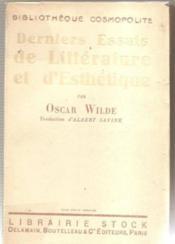 Derniers essais de littérature et d'esthétique. août 1887-1890 - Couverture - Format classique