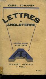 Lettres D Angleterre. - Couverture - Format classique