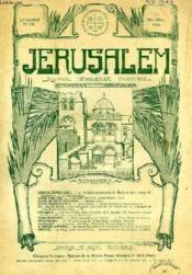 JERUSALEM, 27e ANNEE, N° 170, NOV.-DEC. 1932, REVUE MENSUELLE ILLUSTREE - Couverture - Format classique