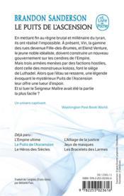 Fils-des-Brumes T.2 ; le puits de l'ascension - 4ème de couverture - Format classique