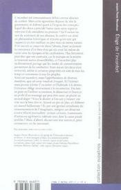 Eloge De L'Inconfort - 4ème de couverture - Format classique