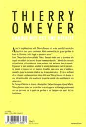 Thierry Omeyer ; chaque but est une défaite - 4ème de couverture - Format classique
