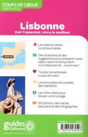 GEOguide coups de coeur ; Lisbonne (édition 2020) - 4ème de couverture - Format classique