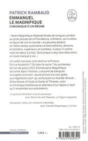 Emmanuel le magnifique ; chronique d'un règne - 4ème de couverture - Format classique