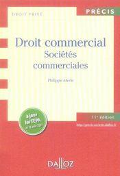 Droit Commercial, Societes Commerciales (11e Edition) - Intérieur - Format classique