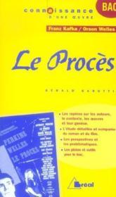 Le procès, de Franz Kafka et Orson Welles - Couverture - Format classique