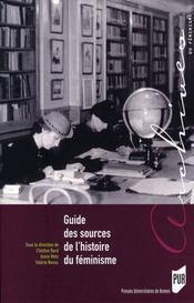 Guide des sources de l'histoire du féminisme - Intérieur - Format classique
