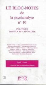 Politique Dans La Psychanalyse - Couverture - Format classique