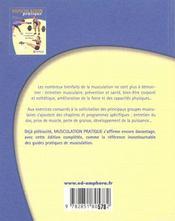 Musculation pratique ; exercices et programmes spécifiques (édition 2001) - 4ème de couverture - Format classique