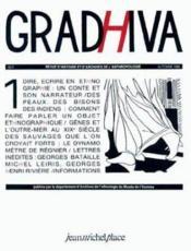 Revue Gradhiva N.1 - Couverture - Format classique