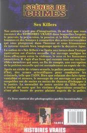 Sex Killers N10 - 4ème de couverture - Format classique