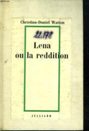 Lenna Ou La Reddition. - Couverture - Format classique