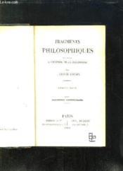 FRAGMENTS PHILOSOPHIQUES POUR SERVIR A L HISTOIRE DE LA PHILOSOPHIE. 5em EDITION. PHILOSOPHIE CONTEMPORAINE. - Couverture - Format classique
