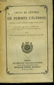 Choix De Lettres De Femmes Celebres - Couverture - Format classique