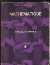 Travaux Diriges - Classe De Quatrieme. - Couverture - Format classique
