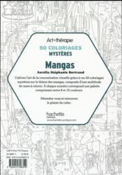 ART-THERAPIE ; 50 coloriages mystères ; mangas - 4ème de couverture - Format classique