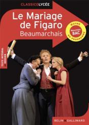 Le mariage de Figaro, de Beaumarchais - Couverture - Format classique