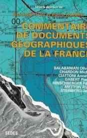 Commentaire de documents géographiques de la France. - Couverture - Format classique