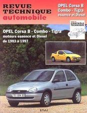Revue Technique Automobile N.563.4 ; Opel Corsa B, Combo, Tigra ; Moteurs Essence Et Diesel De 1993 A 1997 - Intérieur - Format classique