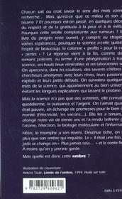 Defense Et Illustration De La Science Le Savant La Science Et L'Ombre - 4ème de couverture - Format classique