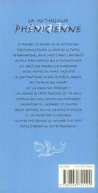 La Mythologie Phenicienne - 4ème de couverture - Format classique