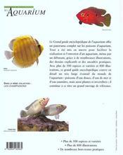Grand Guide Encyclopedique De L'Aquarium - 4ème de couverture - Format classique