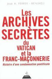 Les archives secretes du vatican et la franc-maconnerie - Intérieur - Format classique