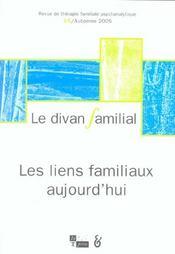 Divan familial n 15 les liens familiaux aujourd'hui - Intérieur - Format classique