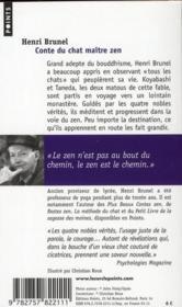 Conte du chat maître zen - 4ème de couverture - Format classique