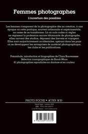 Femmes photographes ; l'ouverture des possibles - 4ème de couverture - Format classique
