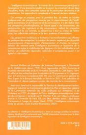 De L'Intelligence Economique A L'Economie De La Connaissance - 4ème de couverture - Format classique