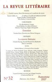La Revue Litteraire N 32 Automne 2007 - Intérieur - Format classique