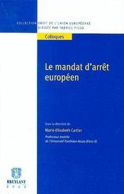 Le mandat d'arret europeen - Intérieur - Format classique