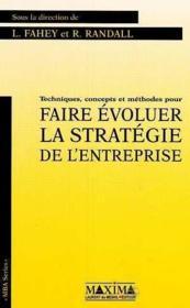 Faire evoluer strategie entrep - Couverture - Format classique