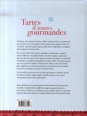 Tartes et tourtes gourmandes - 4ème de couverture - Format classique