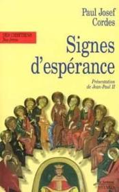 Signes d'esperance, mouvements et realites nouvelles dans la vie de l'eglise - Couverture - Format classique