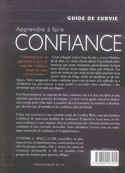Apprendre A Faire Confiance - 4ème de couverture - Format classique