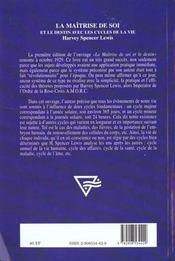 Maitrise de soi - 4ème de couverture - Format classique