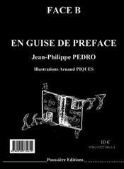 En face de préguise ; en guise de préface - 4ème de couverture - Format classique