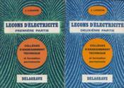 Leçons D'electricité/ 2 Tomes - Couverture - Format classique