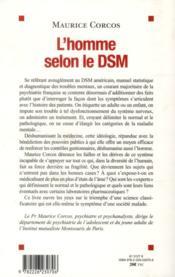 L'homme selon le DSM ; le nouvel ordre psychiatrique - 4ème de couverture - Format classique