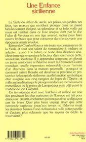 Une enfance sicilienne - 4ème de couverture - Format classique