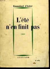 L Ete N En Finit Pas. - Couverture - Format classique