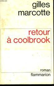 Retour A Coolbrook. - Couverture - Format classique